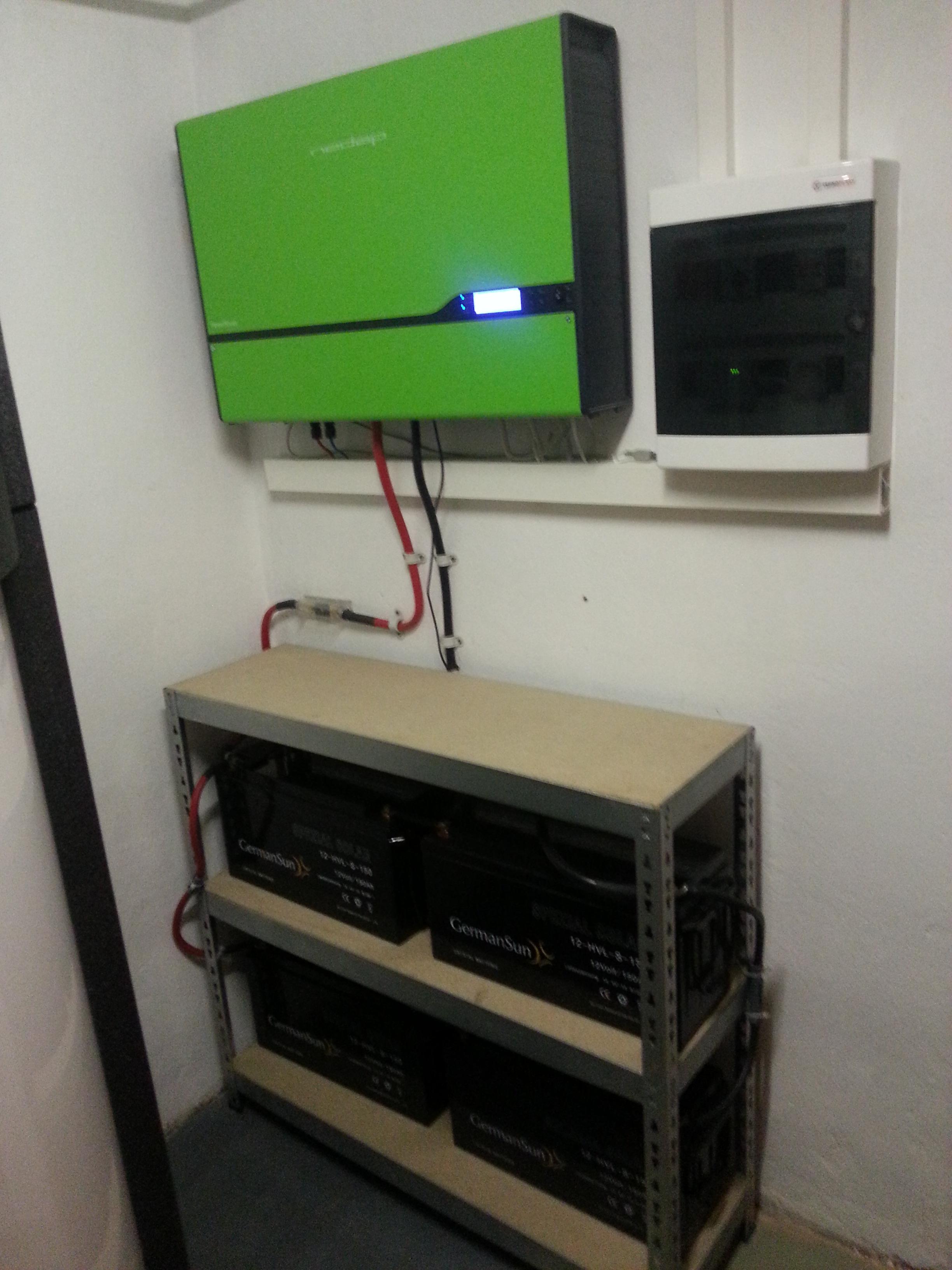 Batteriespeicher 7,2 kWh - STROM für eine Nach, oder für NOTBETRIEB bei Netzausfall