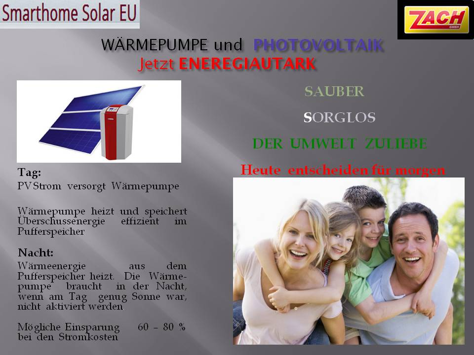 energiegesamtl sungen zb photovoltaik und w rmepumpe smarthome solar eu. Black Bedroom Furniture Sets. Home Design Ideas